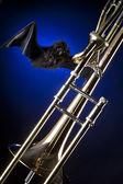 Bat et trombone halloween — Photo