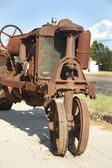 Antique Corroded Rusty Tractor — Stock Photo