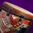 Stock Photo: AfricLatin Djembe Drum on Purple