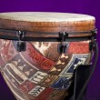 African Latin Djembe Drum On Purple — Stock Photo