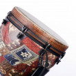African Latin Djembe Drum Isolated - Stock Photo