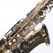 Saxophone Isolated on White — Stock Photo