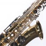 Saxophone Isolated on White — Stock Photo #6100490