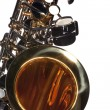 Saxophone Isolated on White - Stock Photo