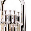 Stock Photo: Silver Bass TubEuphonium on White