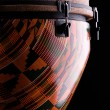 African Djembe Drum Isolated on black — Stock Photo