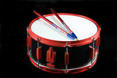 Red and Black Snare Drum — Stock Photo