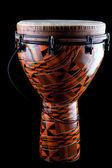 African Djembe Conga Drum Isolated — Stock Photo