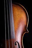 Violin Viola Close Isolated on Black — Stock Photo