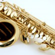 Stock Photo: Saxophone Isolated On White