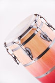 African Conga Drum isolated On White — Stock Photo