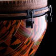 Stock Photo: Orange Djembe on Black Background