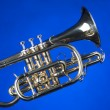 Stock Photo: Sheppards Crook Cornet On Blue