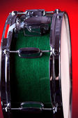 Green Snare Drum On Red — Stock Photo