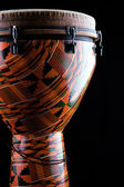 Djembe Conga Drum Isolated on Black — Stock Photo