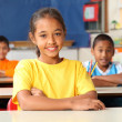 Stock Photo: Primary school children at desks
