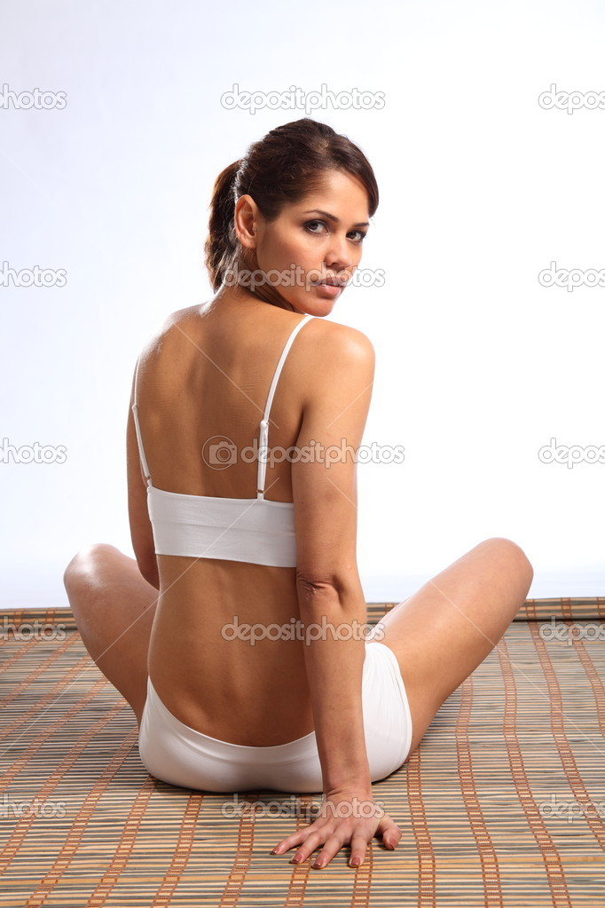 Woman looking back over her shoulder — Stock Photo ...