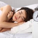 Beautiful woman over sleeping — Stock Photo