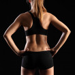 Back of woman in sports outfit — Stock Photo