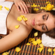 Woman lying in health spa asleep — Stock Photo #5905376