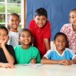 Stock Photo: Group of smiling school children