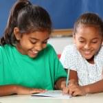 School girls in class learning — Stock Photo #5923701