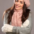 Royalty-Free Stock Photo: Happy smile woman in warm clothes