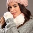 Young beauty warm in winter gear — Stock Photo #6056539