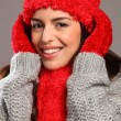 Stock Photo: Womin warm festive woolly knits