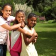 Stock Photo: Girls happy laughter and hugs
