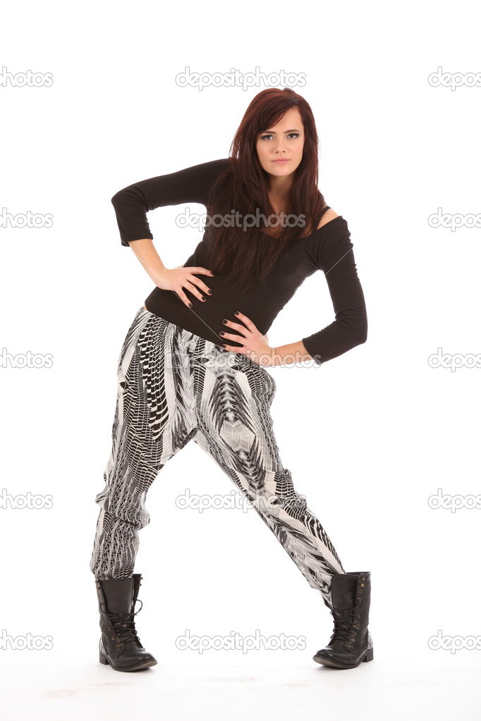 Urban Fashion Girl Strikes A Pose Stock Photo Darrinahenry 6064017