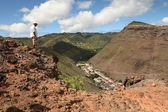 Walking the hills of St Helena — Stock Photo