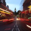 City of westminster london street lights at dawn - Stock Photo