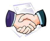 Partnership handshake — Stock Vector
