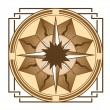 Medieval compass — Stock Vector #5887617