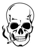 Skull for danger smoke concept — Vector de stock