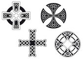 Celtic crosses — Stock Vector