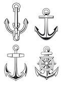 Anchors set — Stock Vector