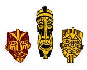 Ancient masks — Vetorial Stock