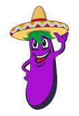Cartoon eggplant — Stock Vector