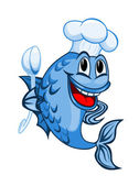 Šéfkuchař ryby — Stock vektor