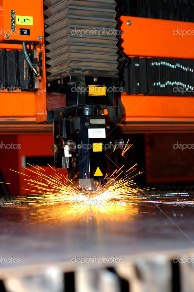 Photo of the industrial laser — Stock Photo #6108002