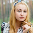 Beautiful girl at the park — Stock Photo #6397970