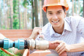 Young smiling worker — Stock Photo
