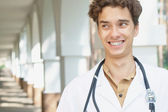 Crazy young doctor — Stock Photo