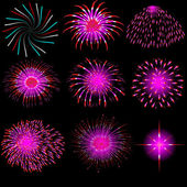 Vector fireworks — Stock Photo