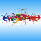 Color paint splashes. — Stock Vector