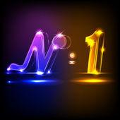Neon N1 — Stock Vector