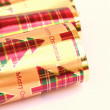 Traditional christmas celebration crackers — Stock Photo