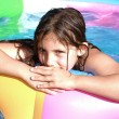 Beautiful child enjoying summer in pool — Stock Photo #6020255